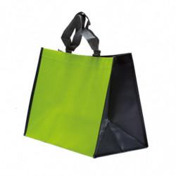 sac polypro  non tissé vert anis/gris