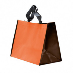 sac polypro non tissé orange/chocolat