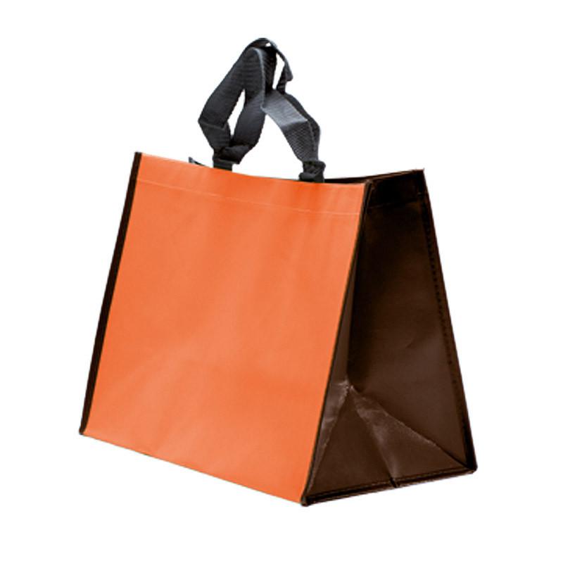 sac polypro non tissé orange/chocolat
