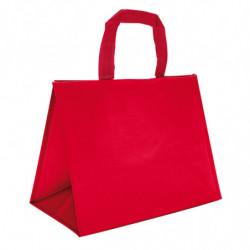 sac en polypro tissé rouge