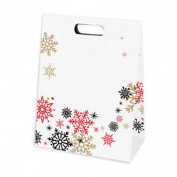 pochette en papier pelliculé mat avec motif 'mélodie hivernale'