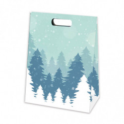 Pochette en papier pelliculé mat avec motif 'Taiga'