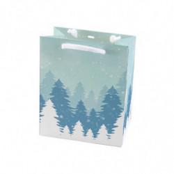 Sac en papier pelliculé mat avec motif 'Taiga' T1