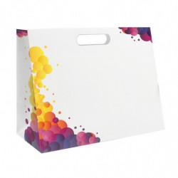 sac en papier pelliculé mat avec motif 'Bulles'