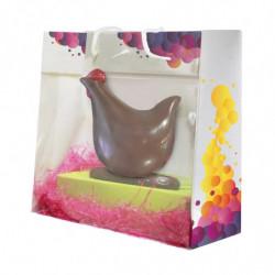 sac en papier et PVC avec motif 'Bulles' - avec chocolat à l'intérieur