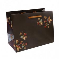 sac en papier pelliculé mat avec motif 'Cabosses'
