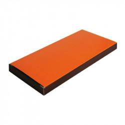 étui tablette orange/chocolat