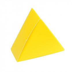 Boîte triangle jaune