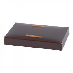 Socle poule Bicolore Chocolat/Orange