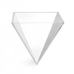 Verrine pyramidale en PVC transparent.
