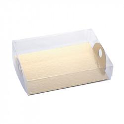 boite transparente avec plateau or