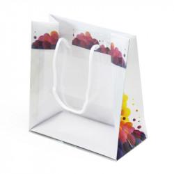 sac en papier et PVC avec motif 'Bulles'