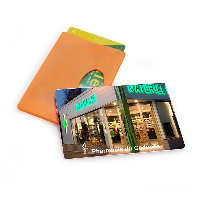 Porte carte rigide avec impression quadri