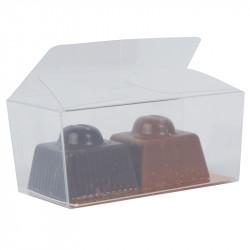 Mini Ballotin PVC transparent alimentaire avec carte or à bas prix